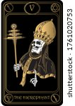 the hierophant. the 5th card of ...   Shutterstock .eps vector #1761020753