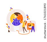 man and women collecting pieces ... | Shutterstock .eps vector #1761021893