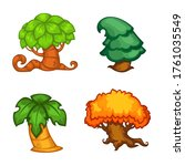 vector set of cartoon tree for...   Shutterstock .eps vector #1761035549