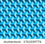 blue cubes geometric seamless... | Shutterstock .eps vector #1761039776