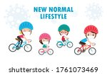 new normal lifestyle concept...   Shutterstock .eps vector #1761073469