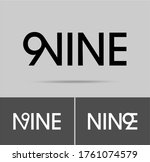 nine number logo  numeral and... | Shutterstock .eps vector #1761074579