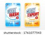 laundry detergent or... | Shutterstock .eps vector #1761077543