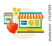 online shopping. sale  laptop... | Shutterstock . vector #176107859