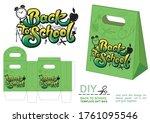 back to school. gift paper bag... | Shutterstock .eps vector #1761095546
