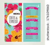 cafe menu  template design.... | Shutterstock .eps vector #176109860
