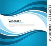 vector blue curves background....   Shutterstock .eps vector #176110793