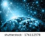 best internet concept of global ... | Shutterstock . vector #176112578