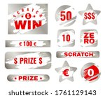 scratch card. scratches with... | Shutterstock .eps vector #1761129143