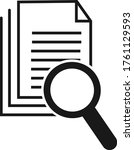 scrutiny document icon vector... | Shutterstock .eps vector #1761129593