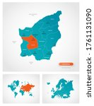 editable template of map of san ... | Shutterstock .eps vector #1761131090