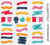 colorful ribbons and labels set ... | Shutterstock .eps vector #1761145973
