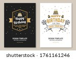 happy birthday to you. may all...   Shutterstock .eps vector #1761161246