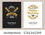 happy birthday to you dear...   Shutterstock .eps vector #1761161249
