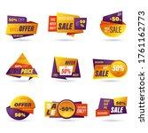 set of retail sale badge.... | Shutterstock .eps vector #1761162773