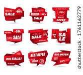 set of retail sale badge.... | Shutterstock .eps vector #1761162779
