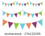 vintage garland | Shutterstock . vector #176122250