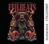 evil beats hiphop style...   Shutterstock .eps vector #1761229889