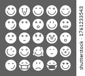 set of emoticons. emoji icons.... | Shutterstock .eps vector #1761233543