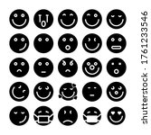 set of emoticons. emoji icons.... | Shutterstock .eps vector #1761233546
