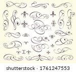 set of decorative elements for... | Shutterstock .eps vector #1761247553