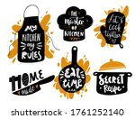 hand written vector cooking... | Shutterstock .eps vector #1761252140