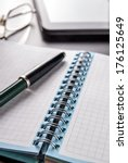 checked notebook and tablet ... | Shutterstock . vector #176125649