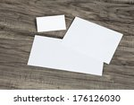 blank corporate identity... | Shutterstock . vector #176126030