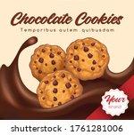 realistic chocolate cookies....   Shutterstock .eps vector #1761281006