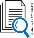 scrutiny document icon vector... | Shutterstock .eps vector #1761284033