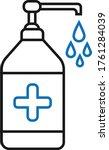 hand sensitize bottle icon ... | Shutterstock .eps vector #1761284039