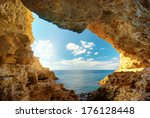 inside of mainsail. nature... | Shutterstock . vector #176128448