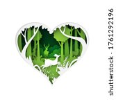 green heart of nature concept... | Shutterstock .eps vector #1761292196