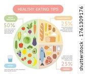 healthy eating tips.... | Shutterstock .eps vector #1761309176