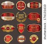 set of premium golden labels | Shutterstock .eps vector #176131610