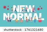 new normal concept illustration ... | Shutterstock .eps vector #1761321680