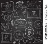 vintage labels set  vector | Shutterstock .eps vector #176132768