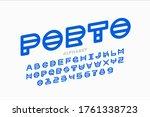 abstract modern font  alphabet... | Shutterstock .eps vector #1761338723