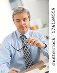 portrait of senior businessman...   Shutterstock . vector #176134559