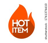 hot item icon. hot sale. hot... | Shutterstock .eps vector #1761376610
