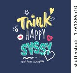 typography slogan with colorful ... | Shutterstock .eps vector #1761386510