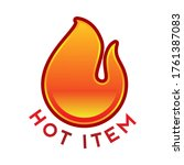 hot item icon. hot sale. hot... | Shutterstock .eps vector #1761387083