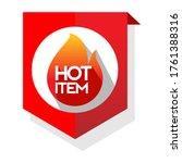 hot item.  hot product. hot... | Shutterstock .eps vector #1761388316