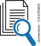 scrutiny document icon vector... | Shutterstock .eps vector #1761390803