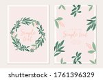 modern botanical invitation... | Shutterstock .eps vector #1761396329