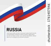 russia waving flag ribbon... | Shutterstock .eps vector #1761407546