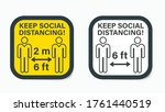 social distancing. keep the 6... | Shutterstock .eps vector #1761440519