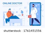 phone video call to the doctor... | Shutterstock . vector #1761451556