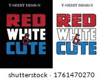 red white and cute t shirt... | Shutterstock .eps vector #1761470270