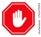 stop traffic sign  red and... | Shutterstock .eps vector #1761473393